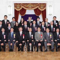 群馬県優良企業授賞式の記念写真