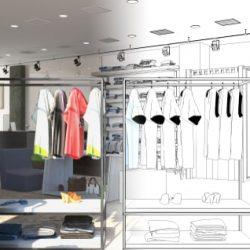 店舗デザインの図